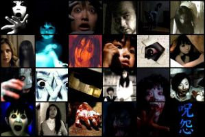 Ju-On and The Grudge Collage by rusholmeruffian8