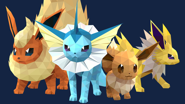 Eevee And Evolutions by pikachu-hat