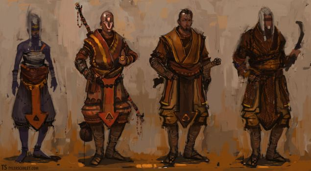 Monk Renderings by TylerScarlet