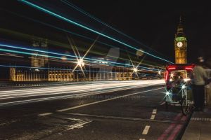Big Ben Light Trails by JSWoodhams