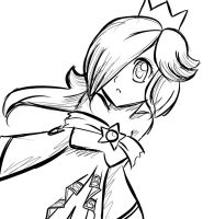 Rosalina sketch 2 by LouiseLoo