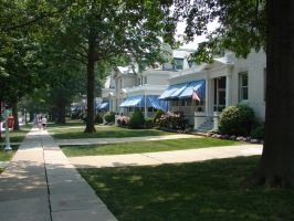 USNA Officer's Row of Houses by FantasyStock