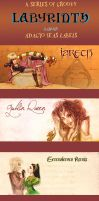 Labyrinth fanon ADAGIO TEAS labels, commission by Pika-la-Cynique