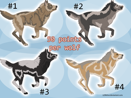 Wolf Adoptables 03 - OPEN by Hermannmagdich