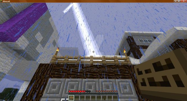 Lightning in Minecraft in which by DottyRoxy