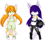 Page Chibis: Nixie and Cassidy by MagicalGirlSquad