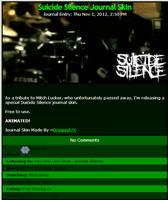 Suicide Silence Journal Skin by DragonA7X