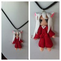 Necklace Inuyasha Handmade Polymer Clay by DarkettinaMarienne