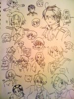 Hetalia Sketch Dump by dragonetra59