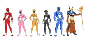 Go Go Power Rangers by thecreator9
