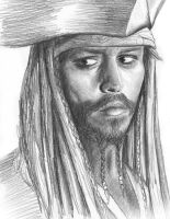Johnny Depp - Jack Sparrow by Linnou