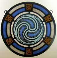 Celtic Stained glass Roundel by Ikoglass