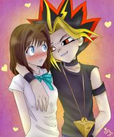 Yami Yugi and Anzu by ChibiStarChan