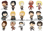 Attack on Titan chibis by thelimeofdoom