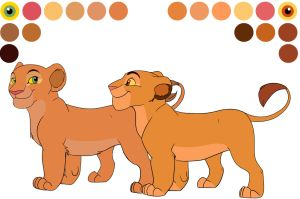 Sarafina and Sarabi cub color sheet by Mydlasfanart