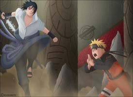 Fire Naruto Vs Hatred Sasuke by DemonFoxKira