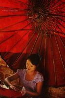 Umbrella factory, Myanmar 5 by NataliaCiobanu