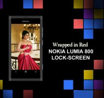 Nokia Lumia 800 Wallpaper : Wrapped in Red by bladerahul