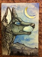 Iron Artist Challenge ACEO 19 by nightspiritwing