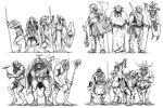 Kobold, Hobgoblins, Orcs and Goblins by pictishscout