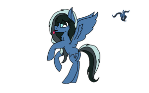 Water/Darkness Pegasus Adoptable! (CLOSED) by AMiraPone
