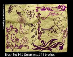 Brush Set 34 - Ornaments by punksafetypin
