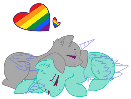 MLP Base- Original- Pride month by alari1234-Bases