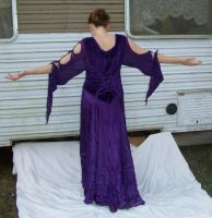 Purple Silk Dress Stock 2 by Gracies-Stock