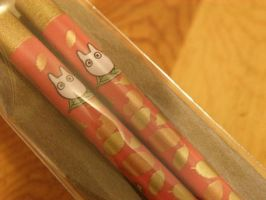 Totoro's chopsticks by asami-h