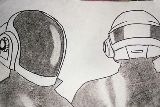Daft Punk helments with leather by LegSGaming