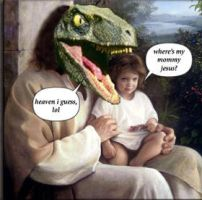 Raptor Jesus - Where's my mom by joker-kornstantine
