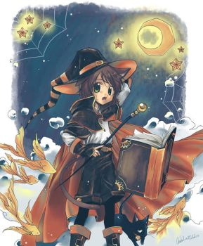 Celes: orange and black wizard by Sei00