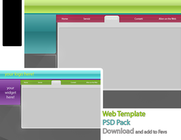 Web Template PSD Pack by alieno