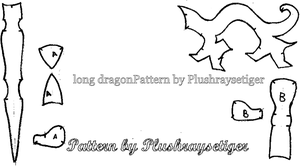 Barebones Dragon pattern by PlushRayseTiger