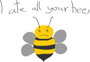 I ate all your bees by JeenyusGraphics