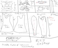 how to make kirito coat from scratch pattern by rtj3000