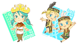 Vocaloid x Indonesian traditional clothing! by nasikepal