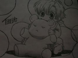 Baby Tamaki and his Teddy by Riza756