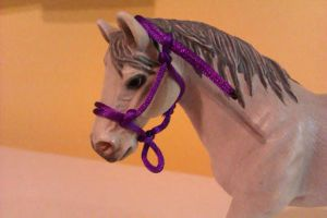 My secend rope halter (but first in this scale) by KlaczArabska