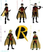 Young Justice Robins by HezuNeutral