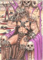 Shao kahn by DesertoMental