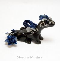 Blue and Silver Rose Dragon by Meep-and-Mushrat