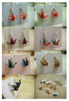 washi crane earrings FOR SALE by fresh4u