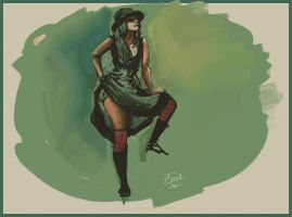 Gallery Girls Green by FablePaint