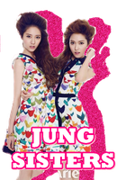 SNSD - F(x) Jung Sisters Glitter Shadow PNG by SNSDMiho22