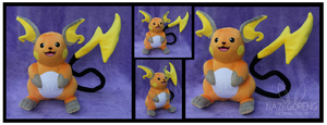 Raichu Custom Plush by Nazegoreng