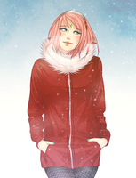 Red coat by DYMx