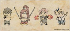 CHUBBY FAIRY TAIL CHIBIS by QUEEN-INCHI