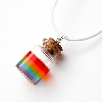 Rainbow in a Bottle necklace by FrozenNote