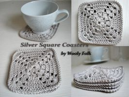Silver Square Coasters by amarilliss